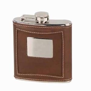 Flask Bruin Leder 180 ml.