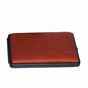 Sigarettenkoker 8 Cognac/ZW Leder 1zijdig 100 MM