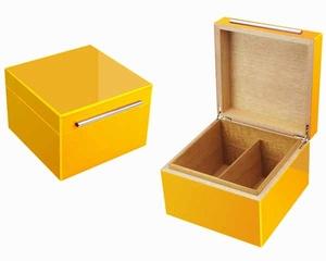 Humidor Yellow vierkant  50 sigaren
