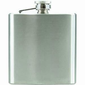 Flask staal geschuurd 180 ml