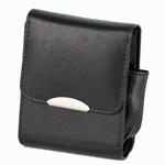 Sigarettenbox Leder Zwart pakje 25st KS met aanstekervak