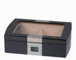 Humidor Passatore Carbon & Glass Top